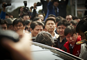 No matter where she visited, there was a huge following of people wanting to see or listen to her.The bodyguards had her under tight check, constantly.