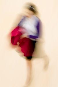 Woman with Magenta Coat, Met Museum, NYC, 2009