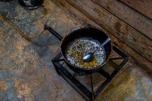 A cauldron inside a settlements.