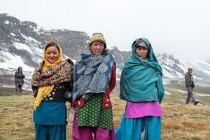 Dolpo-pa women at the Pulvari caterpillar camp. Upper Dolpo, Nepal, June 2017.