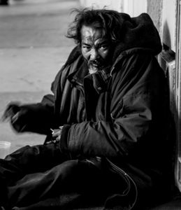 Homeless man in the streets of San Francisco