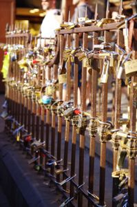 Love and padlocks.  1