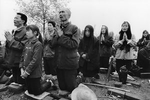 © LU Nan, Worshippers Worshipping in the Open Air, Shaanxi, China, from the series On the Road: The Catholic Church in China 1992-1996, 1992