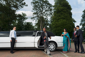 Taiye arriving at her prom, MacIntyre School Wingrave, Buckinghamshire, for children and young people aged 10–19
