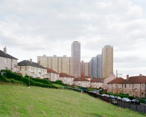 Wonky Goalposts, Red Road Flats, Glasgow, Scotland