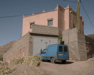 Blue Truck in the Dades Valley
