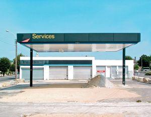 """Station #12, from """"Twentysix Abandoned Gasoline Stations"""" © Eric Tabuchi"""