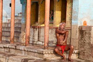 Ritual Bath at Sunrise, River Ganges, Varanasi.