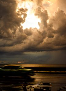 Inclement Weather Malecon Havana Cuba