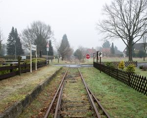 Bahnhofstrasße, Tarmstedt, Germany - January 2015
