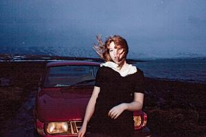 Hildur and her red car