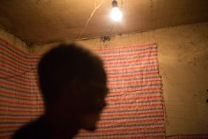 A blind student in the room he shares.  Nearly half of his 300 birr ($18USD) stipend goes to paying rent for the month. The rest must cover food, clothing, soap, and any other incidentals.