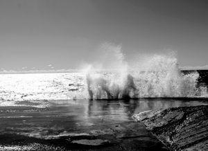 Crashing Waves of Lake Michigan At Grand Haven Pier