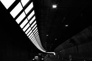 Light streaking through the Tunnel