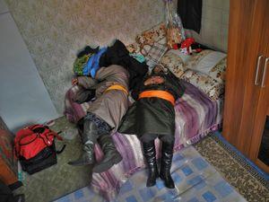 the sobering-up nap at the wedding, Mongolia