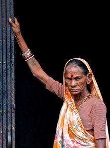woman at Sunday Bird Market, Calcutta (Kolkata), India