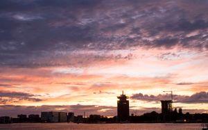 Colorful cloud/city scape Amsterdam