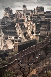 Bundi, India: Panoramic view of the old  palace of Bundi. © Matjaz Krivic