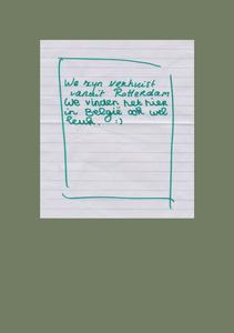 Letter from Tessa and Abdelkrims children