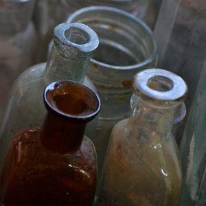Glass Bottles, Flea Market, Casco, Maine