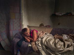 Diane Sleeping, Eastside, Detroit 2013