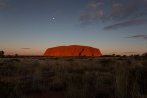 Uluṟu (Ayers Rock), Uluṟu-Kata Tjuṯa National Park. The relationship of an individual or group with land is sacred and cannot be exchanged or lost.