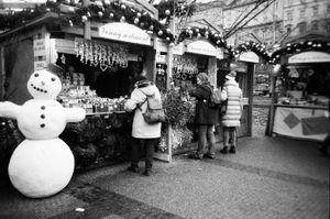 Namesti Miru Christmas market. Prague