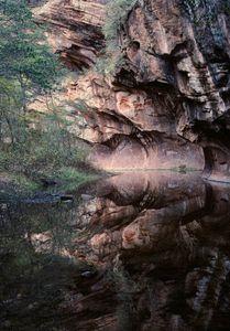 Oak Creek canyon reflection, Arizona