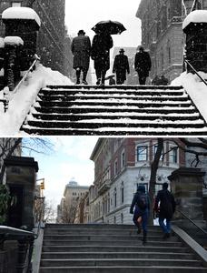 Snow on Steps 1967 - 2016