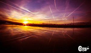 Comtrails Sunrise