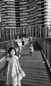 Kid on the bridge, Sanlitun, Beijing 2014