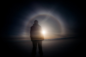 halo- we have seen it many times wandering trough Finnmark Plateau