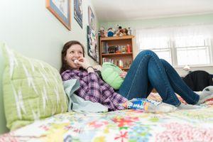Carey in Her Childhood Bedroom
