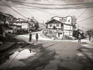 Street scene Phidim, Eastern Nepal