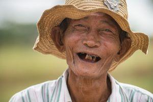 Happy farmer in Bagan