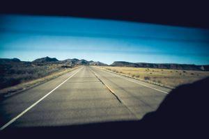 On a desert road