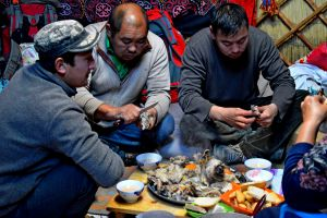 Traditional Mongolian breakfast.