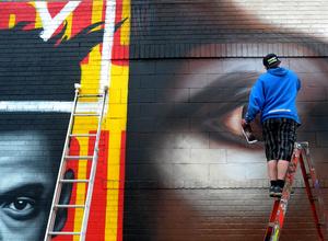 Street artist - Bushwick, Brooklyn
