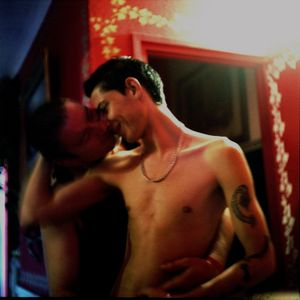 Alexander and Michael kissing (2009)