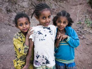 Little girls, Geneta Mariam, Ethiopia