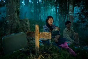 Lisangi and Dulusu Yobin wait indefinitely in the forests of Namdapha with their son.