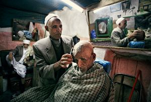 Sana'a, Yemen: The hairdresser and barber shop in the old part of one of the most spectacular towns in the world. © Matjaz Krivic