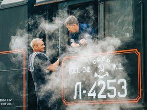 Siberian steam train