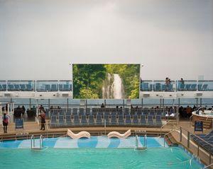 Slide show, main pool deck.