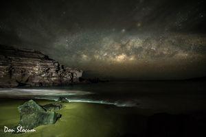 Milky Way rising at the Green Sand Beach