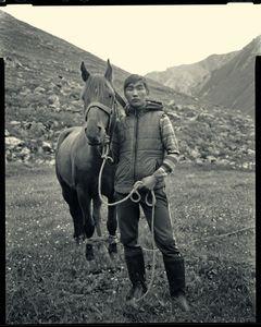 Darien Elyaman, horseman, Kazakhstan.