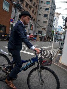 Elegant Cyclist