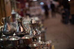 Handmade Copper goods in Gaziantep Bazaar