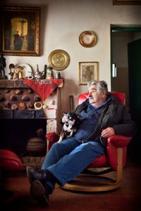 Jose Mujica, former president of Uruguay at his house in the outskirts of Montevideo