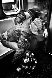 Exhausted NYC - Families (B&W) 6